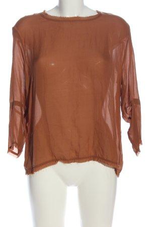 American Vintage Blusa in seta marrone elegante