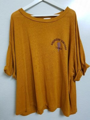 American Vintage Oversized shirt oranje-neonoranje Gemengd weefsel