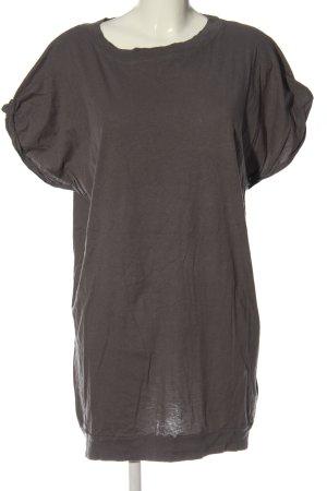 American Vintage Shirtkleid hellgrau Casual-Look