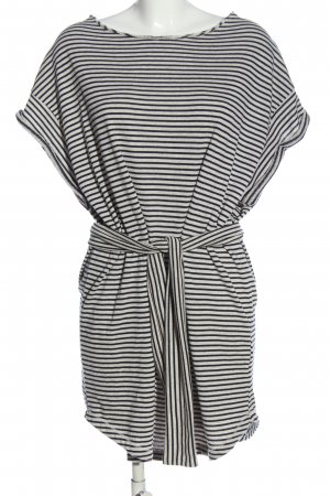 American Vintage Shirt Dress white-black striped pattern casual look