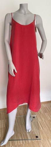 American Vintage Sukienka o kroju litery A czerwony Cupro