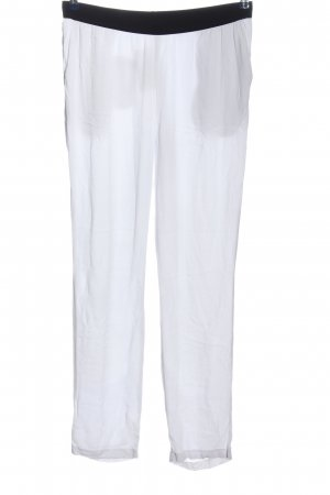 American Vintage Stoffhose weiß-schwarz Casual-Look