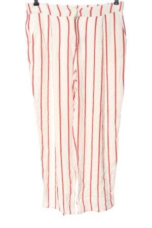American Vintage Pantalone jersey bianco sporco-rosso motivo a righe