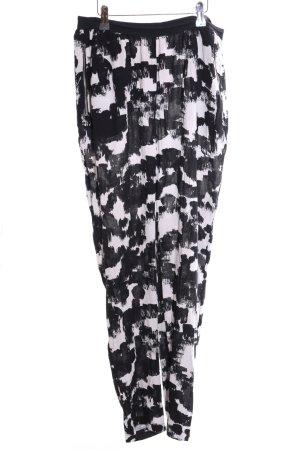 American Vintage Stoffen broek zwart-wit abstract patroon casual uitstraling