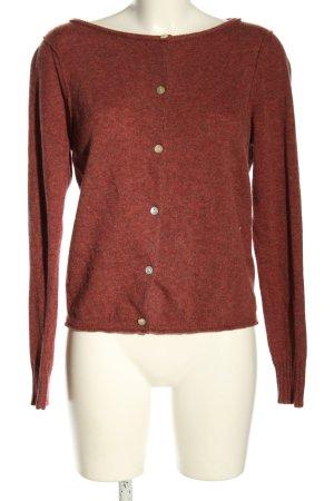 American Vintage Strickjacke rot meliert Casual-Look