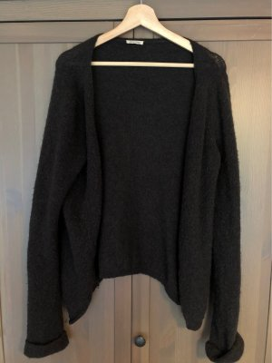 American Vintage Veste en laine gris anthracite-noir