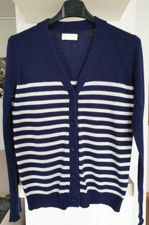 American Vintage Knitted Cardigan blue-light grey