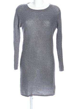 American Vintage Gebreide jurk lichtgrijs gestippeld casual uitstraling