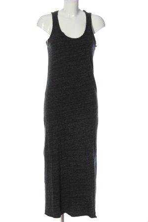American Vintage Strickkleid schwarz meliert Casual-Look