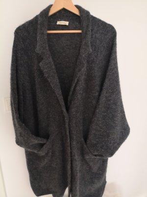 American Vintage Płaszcz z dzianiny ciemnoszary