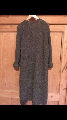 American Vintage Manteau en tricot gris anthracite