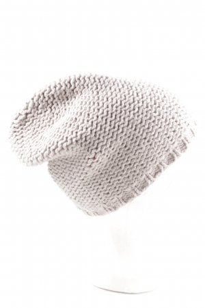 American Vintage Knitted Hat light grey cable stitch casual look