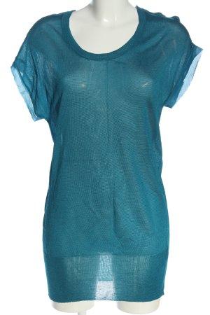 American Vintage Gebreide trui blauw volledige print casual uitstraling