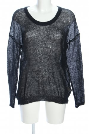 American Vintage Gebreide trui zwart simpele stijl