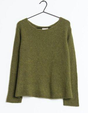 American Vintage Sweter z dzianiny zielono-szary Wełna z alpaki