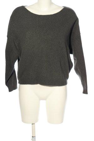 American Vintage Pull tricoté gris clair style décontracté