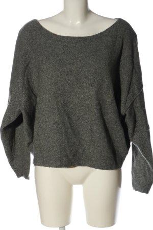 American Vintage Pull tricoté gris clair moucheté style décontracté