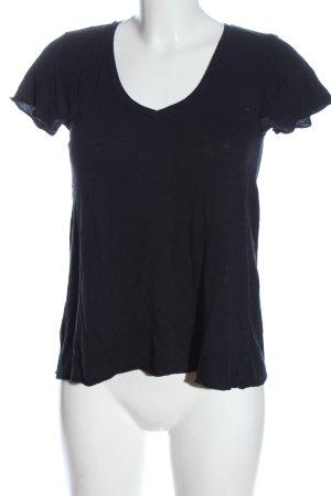 American Vintage Camicia maglia nero stile casual