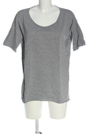 American Vintage Camisa tejida gris claro moteado look casual