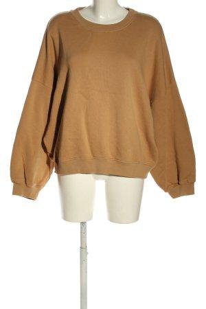 American Vintage Sweatshirt brun style décontracté