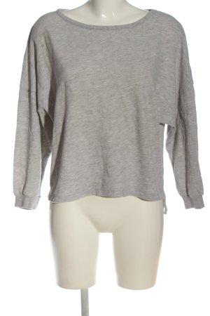 American Vintage Sweatshirt gris clair moucheté style décontracté