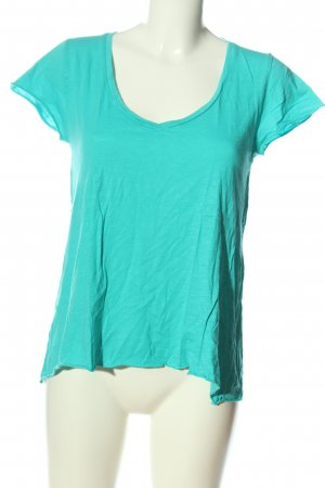 American Vintage Camiseta turquesa look casual