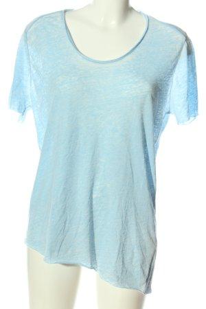 American Vintage T-shirt bleu style décontracté
