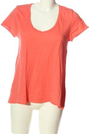 American Vintage Camiseta naranja claro look casual