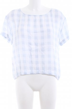 American Vintage T-Shirt blau-weiß Allover-Druck Casual-Look
