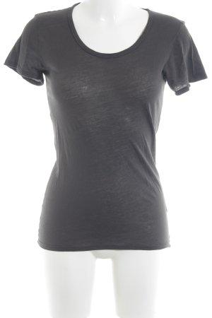 American Vintage T-Shirt dunkelgrau Casual-Look