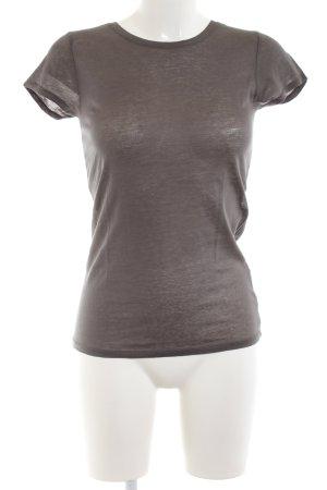 American Vintage T-shirt bruin volledige print casual uitstraling