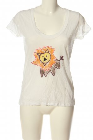 American Vintage T-shirt Stampa a tema stile casual