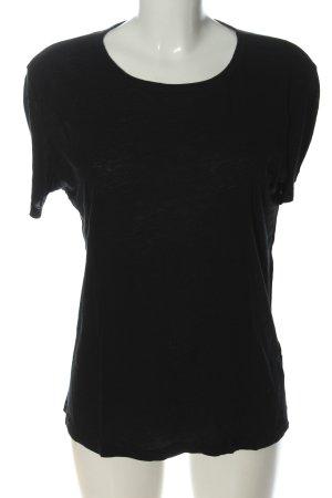 American Vintage T-shirt noir style décontracté
