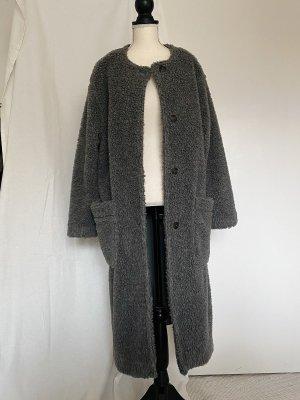American Vintage Abrigo Teddy gris