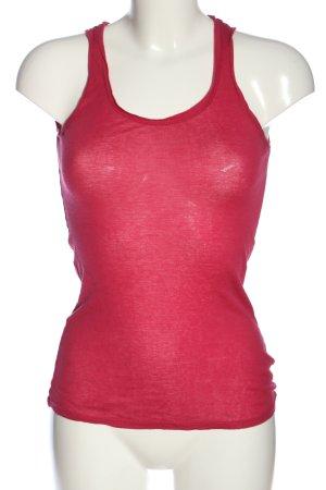 American Vintage Top na ramiączkach czerwony W stylu casual