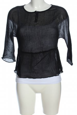 American Vintage Transparenz-Bluse schwarz Elegant