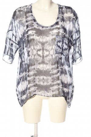 American Vintage Transparent Blouse abstract pattern casual look