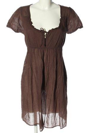 American Vintage Tunique-blouse brun style décontracté
