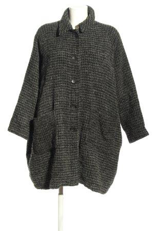 American Vintage Cappotto mezza stagione nero-grigio chiaro motivo a quadri