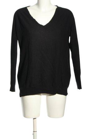 American Vintage Sweter z dekoltem w kształcie litery V czarny