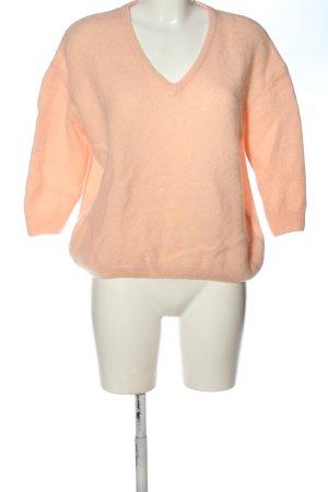 American Vintage Sweter z dekoltem w kształcie litery V jasny pomarańczowy