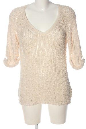 American Vintage Sweter z dekoltem w kształcie litery V kremowy W stylu casual