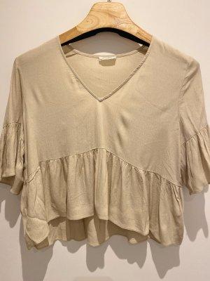 American Vintage Short Sleeved Blouse oatmeal viscose
