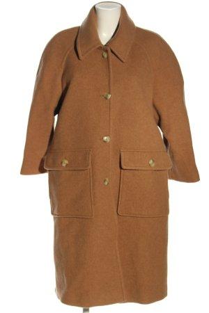 American Vintage Wełniany płaszcz brązowy W stylu casual