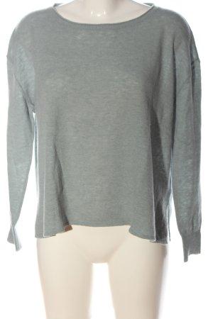 American Vintage Pull en laine gris clair moucheté style décontracté