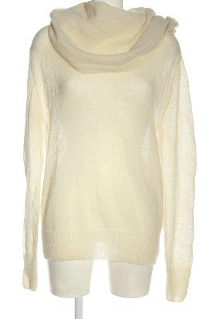 American Vintage Maglione di lana bianco sporco stile casual