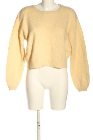 American Vintage Wollpullover blassgelb Casual-Look