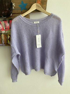 American Vintage Sweter z grubej dzianiny jasny fiolet