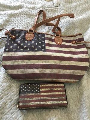 Amerika Handtasche mit Geldbeutel