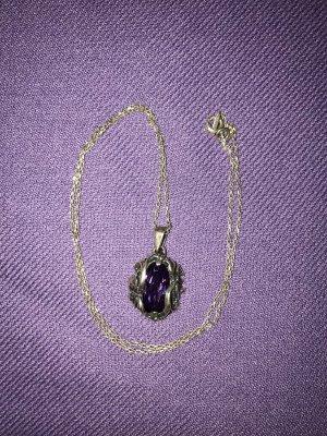 Colgante color plata-violeta oscuro